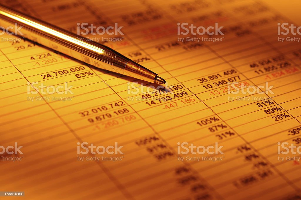 Financial Analyzing Concept royalty-free stock photo