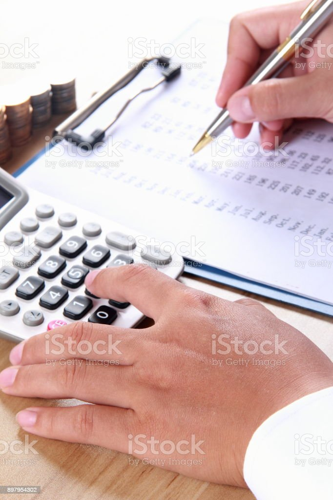 Financial analyzing stock photo