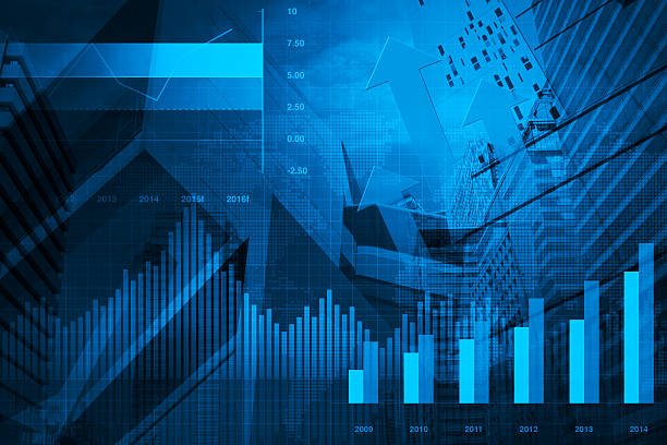 financial and business chart and graphs - market research stock photos and pictures