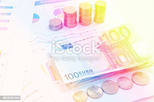 istock Financial and business chart and graphs 680835490