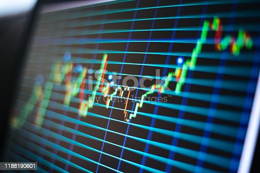 850495466 istock photo Financial and Technical Data Analysis Graph on Screen 1188190601