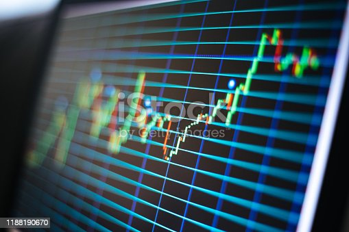 850495466 istock photo Financial and Technical Data Analysis Graph on Screen 1188190670