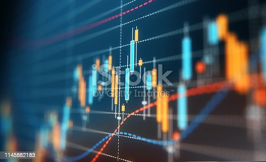 istock Financial and Technical Data Analysis Graph 1145882183