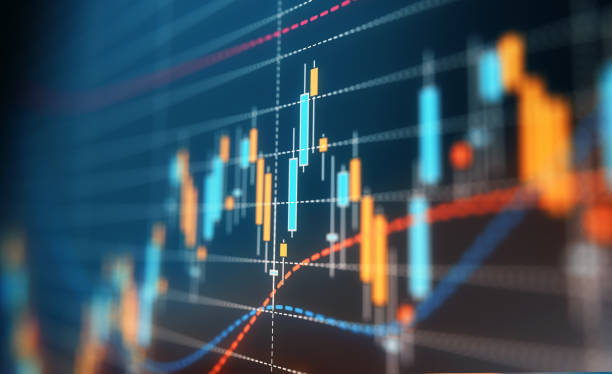 Financial and Technical Data Analysis Graph A financial data analysis graph. Selective focus. Horizontal composition with copy space. scrutiny stock pictures, royalty-free photos & images