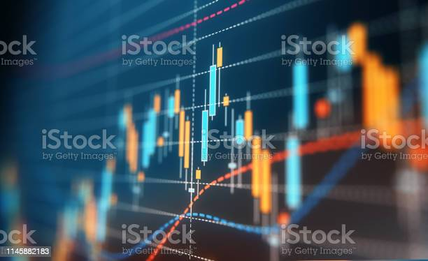 Financial And Technical Data Analysis Graph Stock Photo - Download Image Now