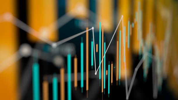 diagramm zur analyse finanzieller und technischer daten mit suchergebnissen - aufführung stock-fotos und bilder