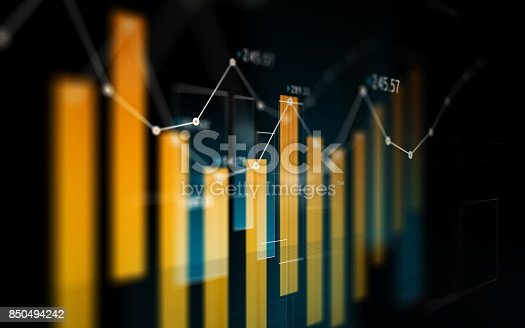 850495466 istock photo Financial and Technical Data Analysis Graph Showing Search Findings 850494242