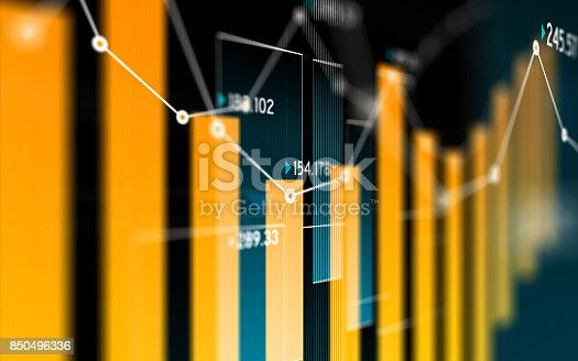 850495466 istock photo Financial and Technical Data Analysis Graph Showing Search Findings 850496336