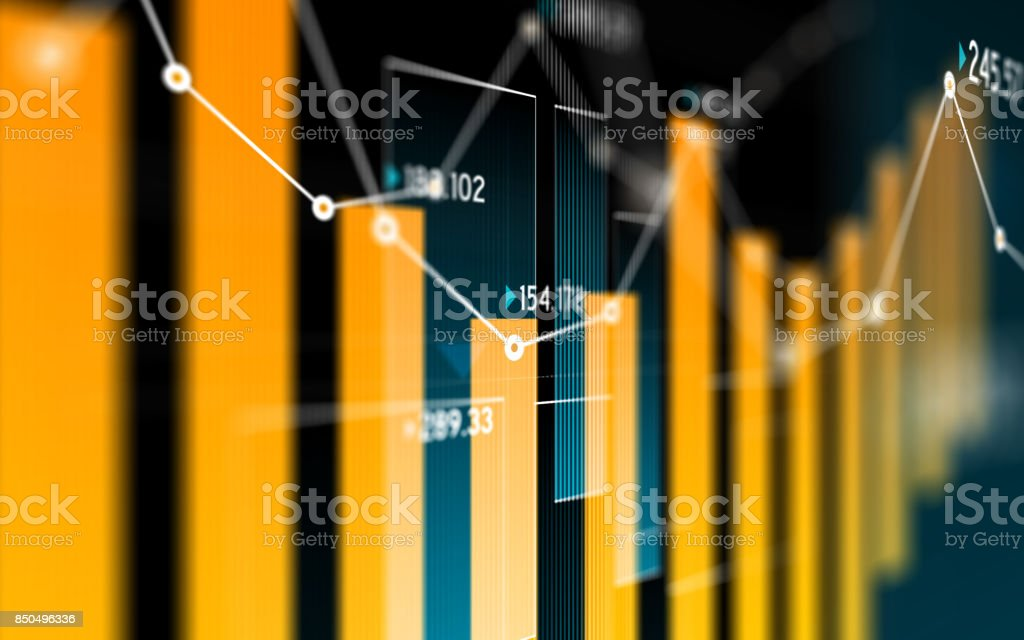 Financial and Technical Data Analysis Graph Showing Search Findings - foto stock