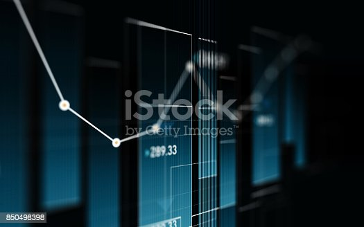 850495466 istock photo Financial and Technical Data Analysis Graph Showing Search Findings 850498398