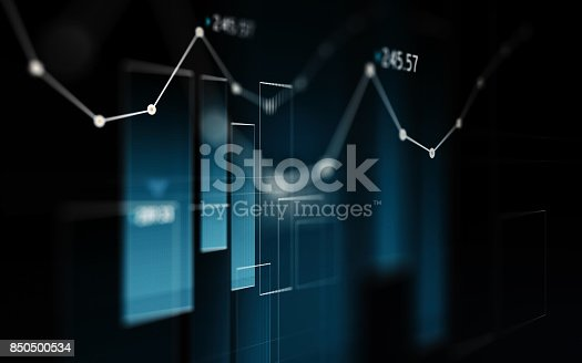 850495466 istock photo Financial and Technical Data Analysis Graph Showing Search Findings 850500534