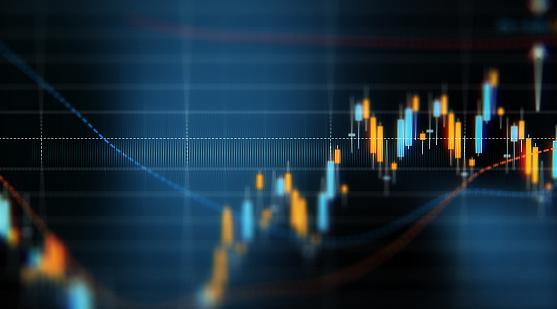 Financial And Technical Data Analysis Graph Showing Search Findings - Fotografie stock e altre immagini di Affari