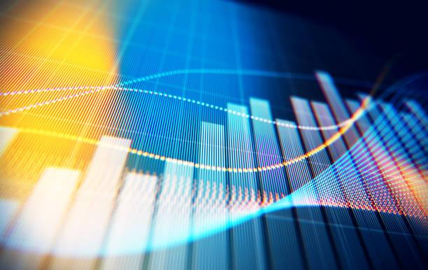 finanzielle und technische daten-analyse-diagramm, suche ergebnisse - heben stock-fotos und bilder