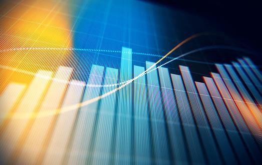 Gráfico Del Análisis De Datos Financieros Y Técnicos Que Muestra Resultados De Búsqueda Foto de stock y más banco de imágenes de Ahorros