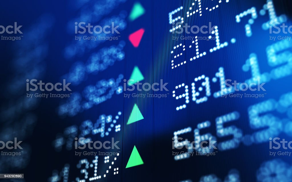 Financial and Technical Data Analysis Graph Showing Stock Market Trends stock photo