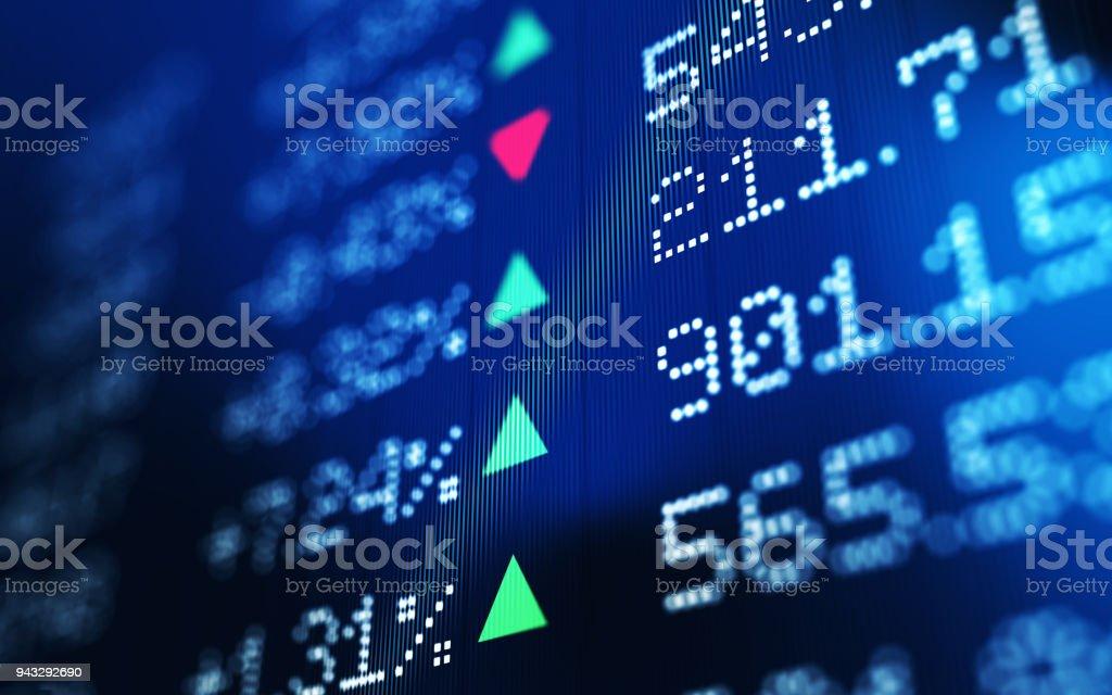 Datos financieros y técnicos análisis gráfico que muestra las tendencias del mercado de valores - foto de stock