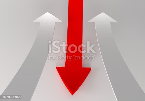 172869494 istock photo financial arrows on a white background 1078362548