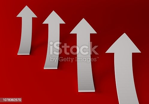 172869494 istock photo financial arrows on a white background 1078362570