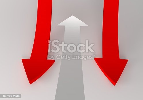 172869494 istock photo financial arrows on a white background 1078362640