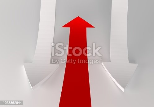 172869494 istock photo financial arrows on a white background 1078362644
