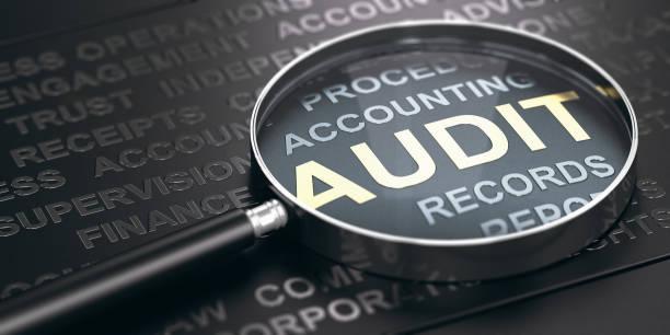 concetto di audit finanziario. - ispezione contabile foto e immagini stock