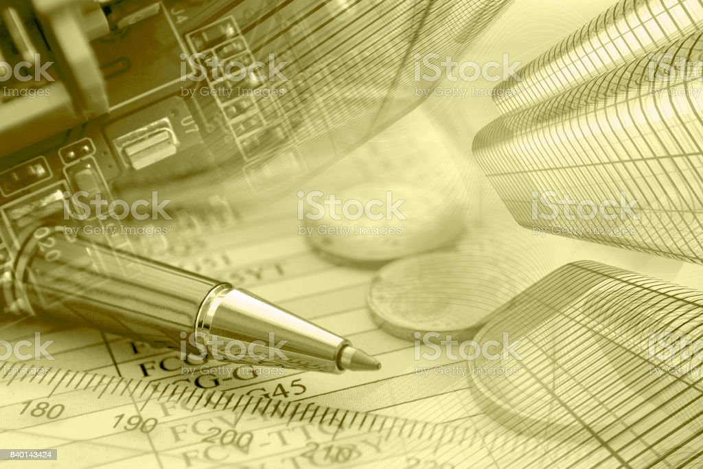 Financial background stock photo