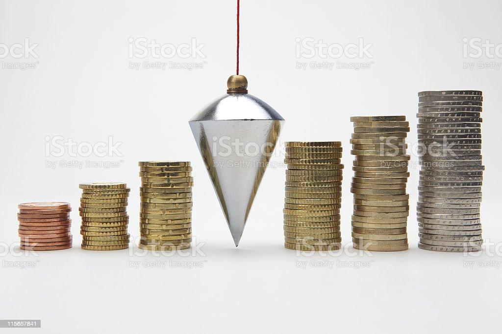 Financial balance stock photo