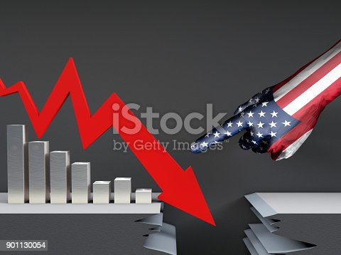 istock Financial Bankruptcy, Failure Arrows and Histograms, Fingers, Accusations and Controls over Financial Growth 901130054