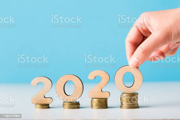 Financial budget planning for 2020 new year with growth