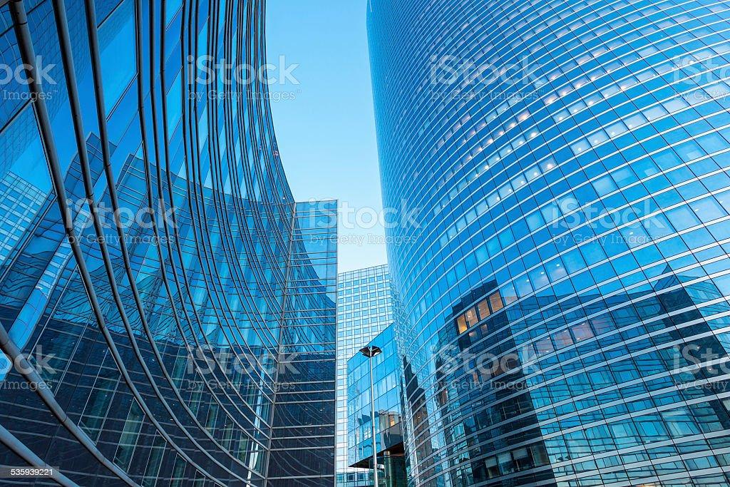 Financial Buildings, La Defense, Paris, France stock photo