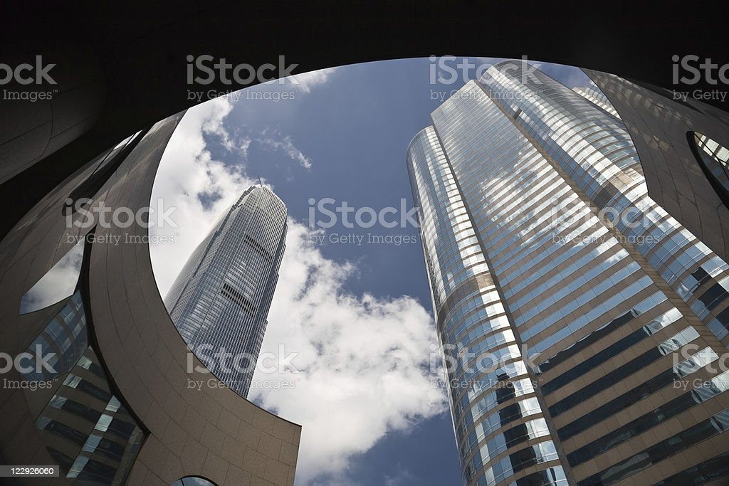 Financial buildings royalty-free stock photo
