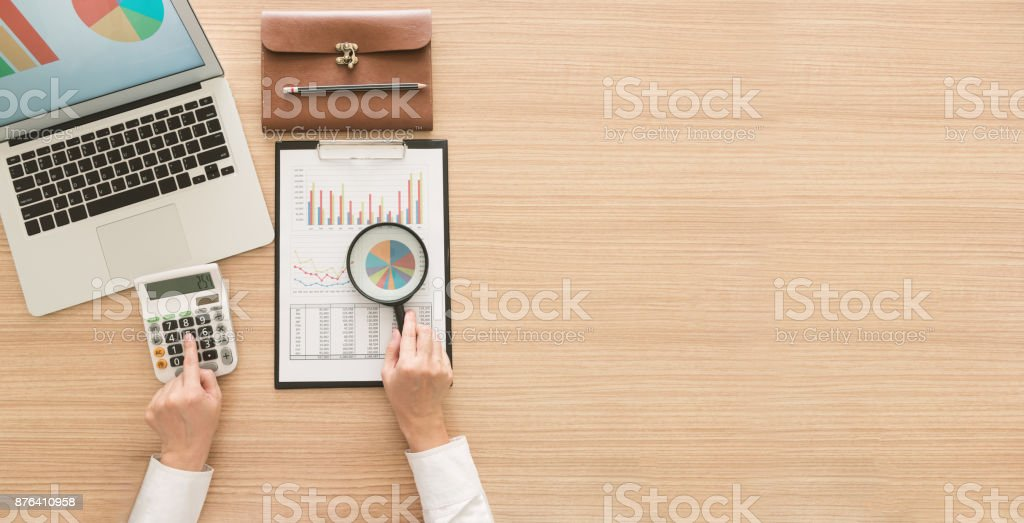 financial business audit stock photo