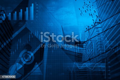 474950718istockphoto Financial business chart and graph on tower background 475826430