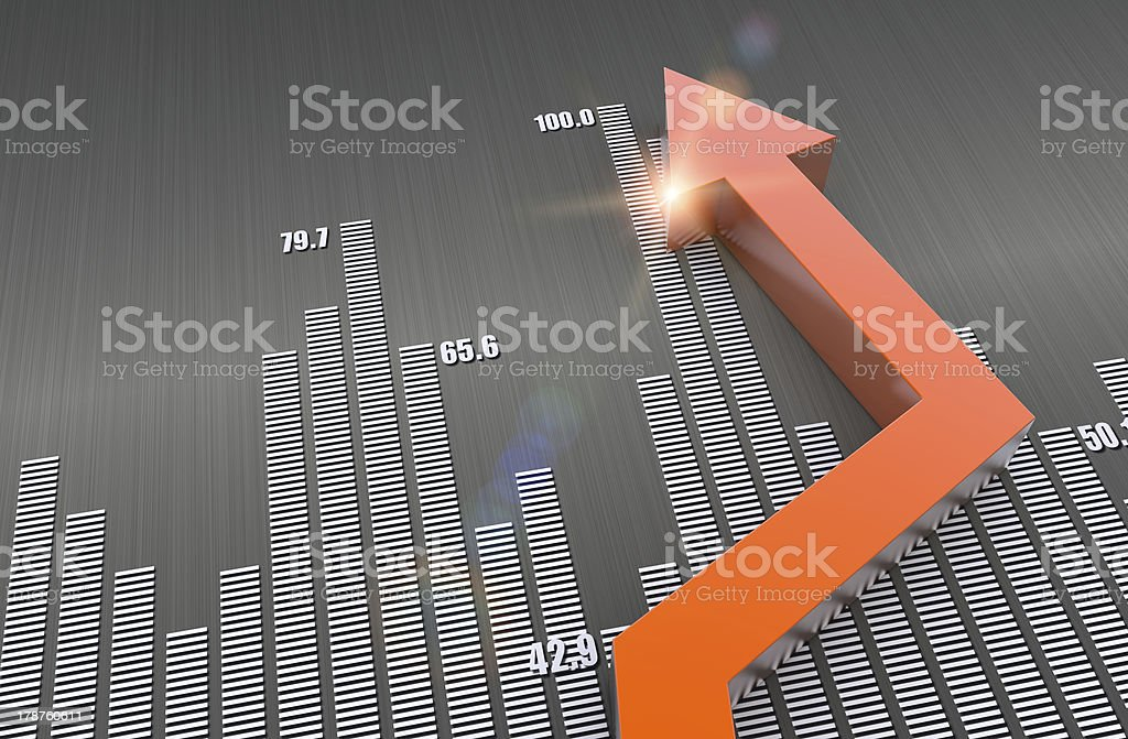 Financial business chart stock photo