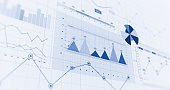 istock Financial Business Charts, Graphs And Diagrams. 3D Illustration Render 1144573725
