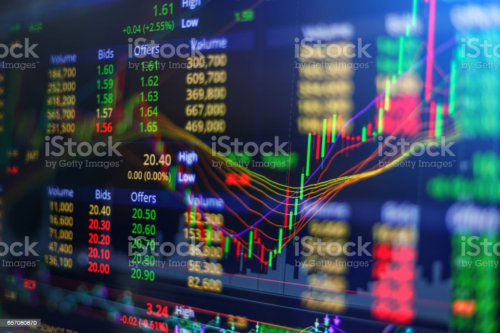 financial business graph chart analysis stock market graph background stock photo
