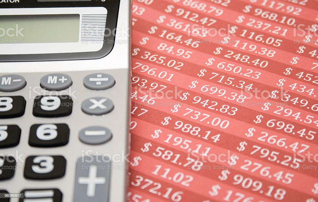Financial Calculations royalty-free stock photo