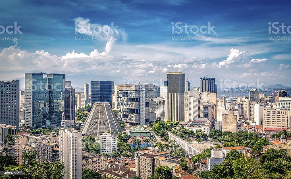 Financial center of Rio de Janeiro, Brazil stock photo