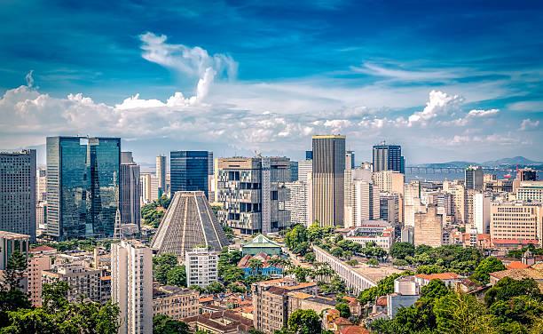 financial center von rio de janeiro, brasilien - rio de janeiro stock-fotos und bilder