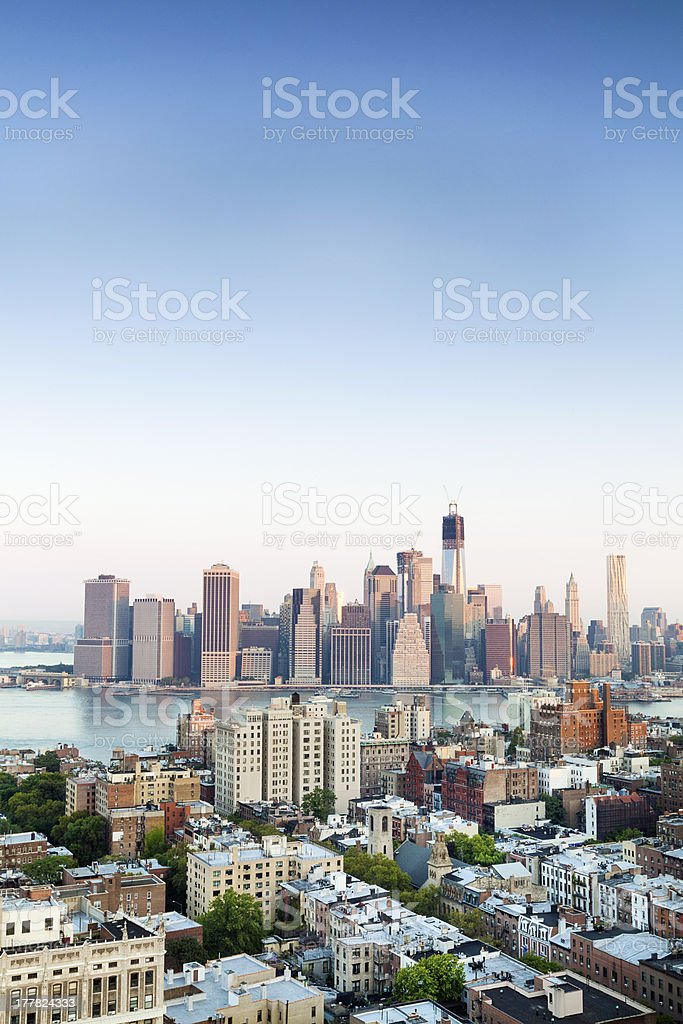 Financial Centre of Manhattan, New York royalty-free stock photo
