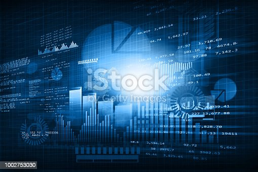 istock Financial chart and graphs 1002753030