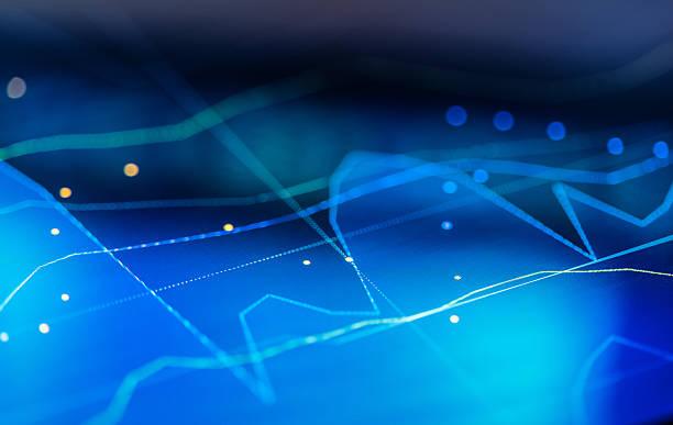 financial chart at digital display - frequenzen stock-fotos und bilder
