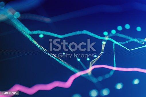 655332504 istock photo Financial chart at digital display 648987052