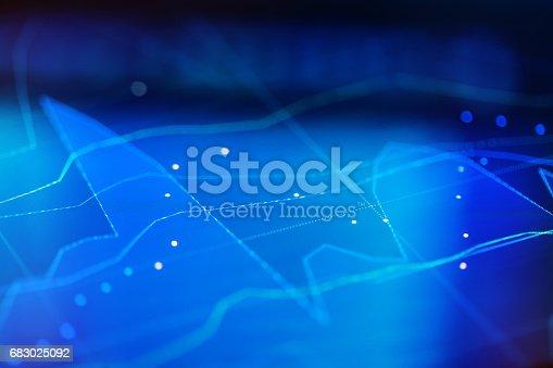 655332504 istock photo Financial chart at digital display 683025092