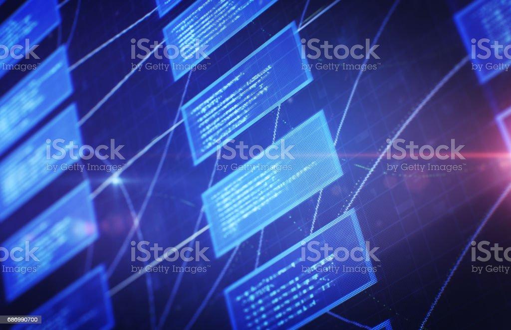 Finanzielle Diagramm mit Digitalanzeige Lizenzfreies stock-foto