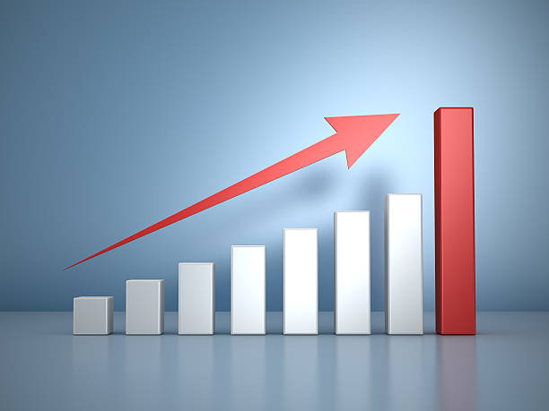 schema finanziario - diagramma a colonne foto e immagini stock