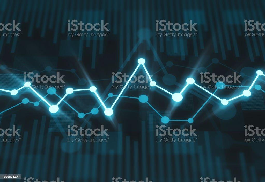 Financial chart stock photo