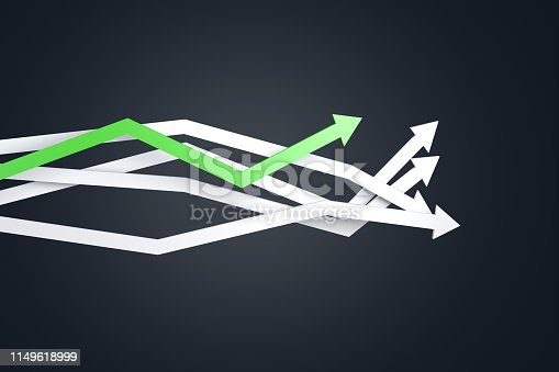 1149620931 istock photo Financial Chart with Arrows 1149618999