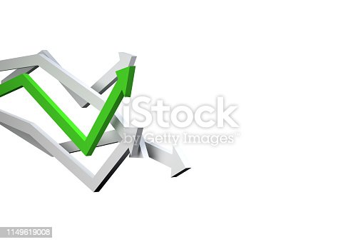 1149620931 istock photo Financial Chart with Arrows 1149619008