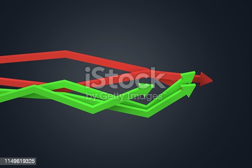 1149620931 istock photo Financial Chart with Arrows 1149619325